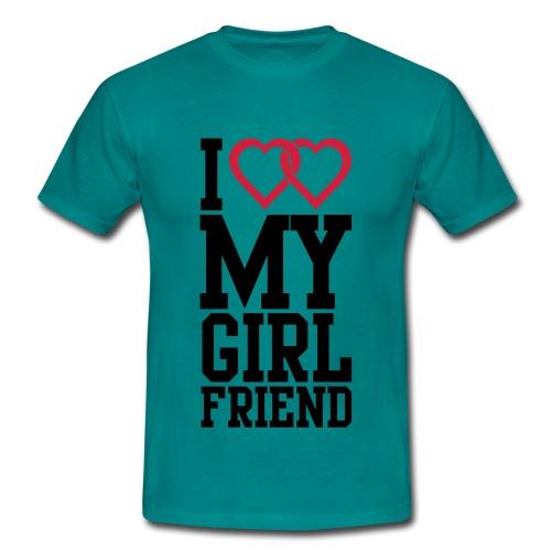 my girlfriend - Mannen T-shirt