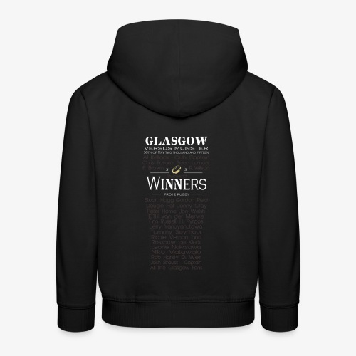Glasgow PRO12 Winners Glass -KIDS - Kids' Premium Hoodie