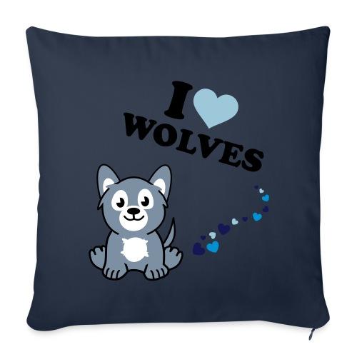 I love wolves - Sierkussenhoes, 45 x 45 cm