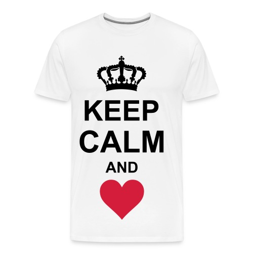 Keep Calm and Love  - Mannen Premium T-shirt