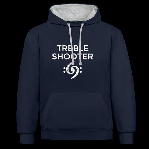 Treble Shooter 69 Hoodie (Weiß) - Kontrast-Hoodie