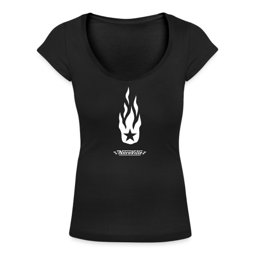 NITROVILLE official scoop neck for women (firebrand) - Women's Scoop Neck T-Shirt