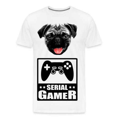 SERIAL PUG - T-shirt Premium Homme