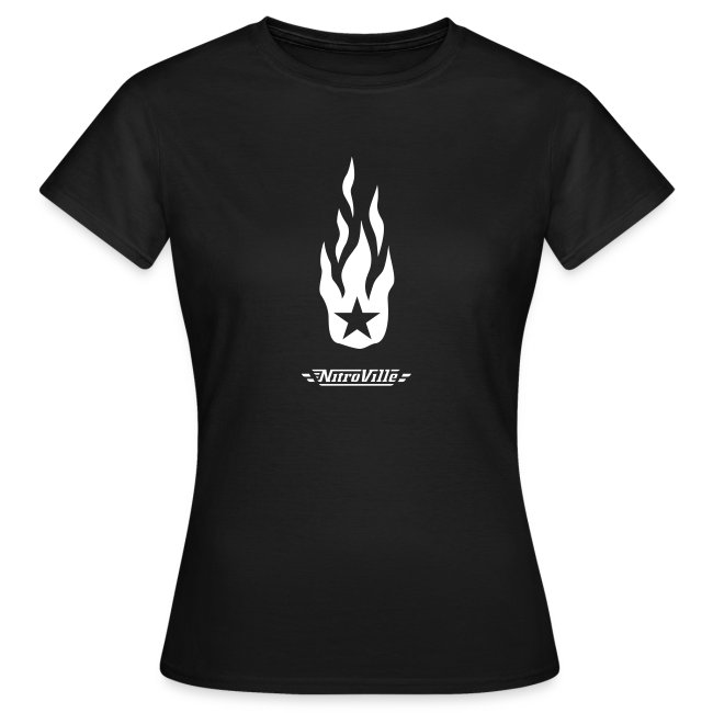 NITROVILLE official band t-shirt for women (firebrand)