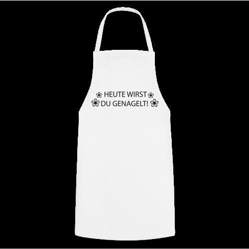 Arbeitsschürze WS mit Schwarzer Glitzer Schrift  - Kochschürze