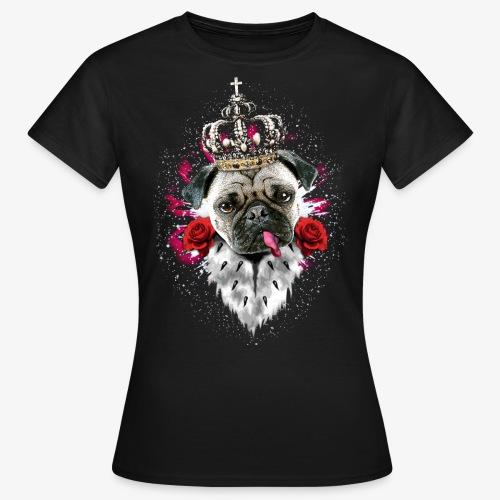 Mops Promo-Shirt 03 hinten MARGARITA-ART - Frauen T-Shirt