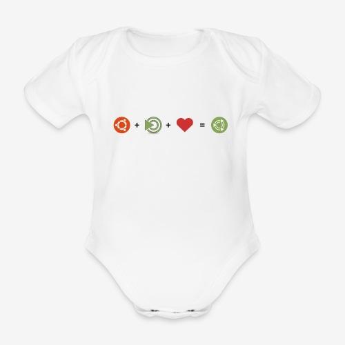 Ubuntu MATE Lurve - Organic Short-sleeved Baby Bodysuit
