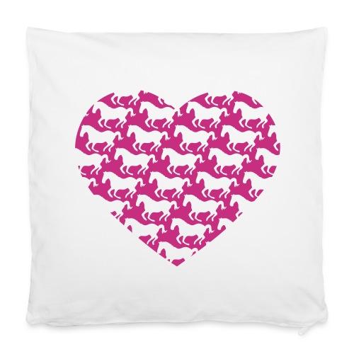 Pferde /  Herz / pink - Kissenbezug 40 x 40 cm