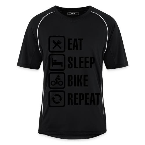Orange/Black Mens Football Jersey Style Cycling Tee - Men's Football Jersey