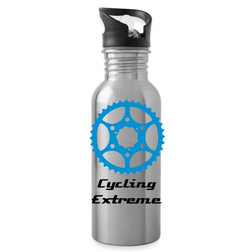 Cycle Extreme Water Bottle Metal Blue and Grey - Water Bottle