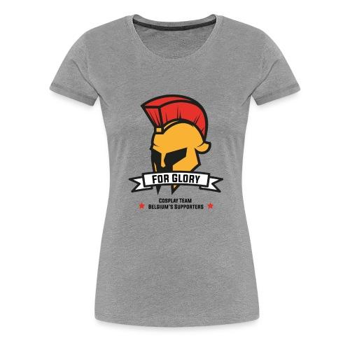 T-shirt For Glory Femme - Gris chiné - T-shirt Premium Femme