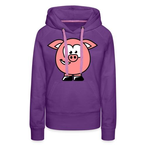 varken full sweater vrouwen - Vrouwen Premium hoodie