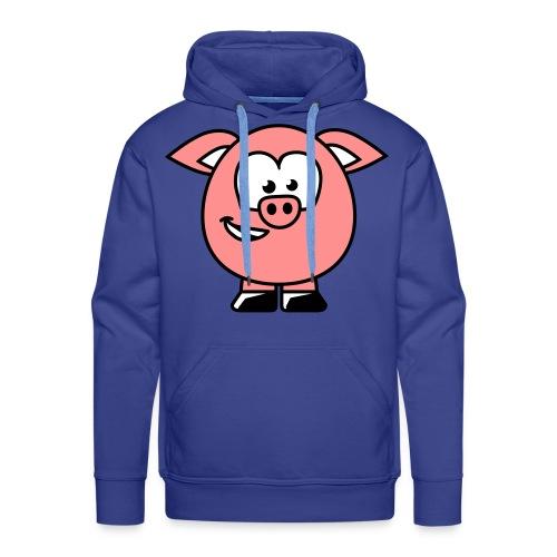 varken full sweater mannen - Mannen Premium hoodie