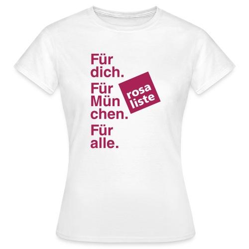 Women's Shirt (slim fit) - weiß - Frauen T-Shirt