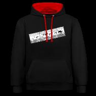 Pullover & Hoodies ~ Kontrast-Kapuzenpullover ~ Punkrock Comic