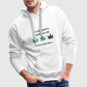La drogue à ruiné ma vie Sweat-shirts - Sweat-shirt à capuche Premium pour hommes