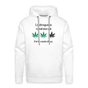 La drogue a ruiné ma vie (Homme) - Sweat-shirt à capuche Premium pour hommes