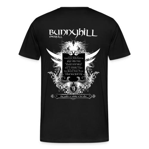 Bunnyhill-Overkill Tshirt mit Tourdaten - Männer Premium T-Shirt