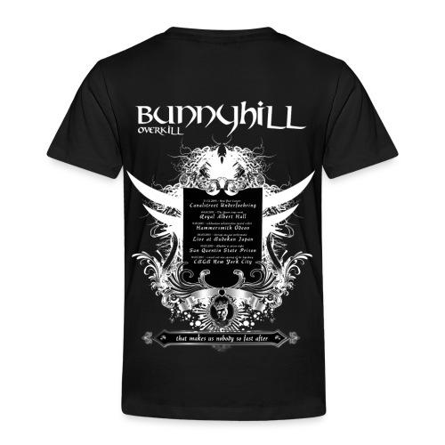 Bunnyhill-Overkill Tshirt mit Tourdaten - Kinder Premium T-Shirt