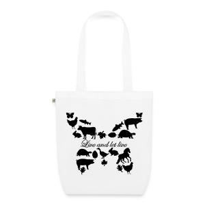 Live and let Live Shopping Bag - Bio-Stoffbeutel
