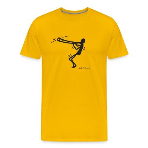 Happy Didgeridoo T-Shirt - Konzept-Lebensfreude.de - Männer Premium T-Shirt