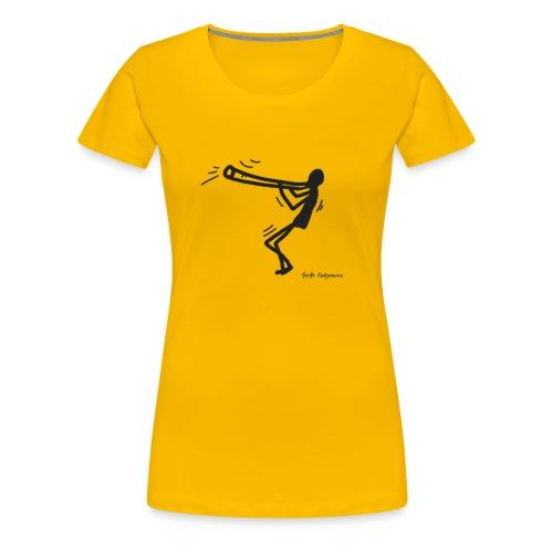 Happy Didgeridoo T-Shirt - Konzept-Lebensfreude.de - Frauen Premium T-Shirt