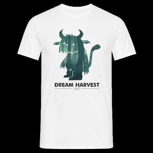 Dream Harvest - Monster Logo White Mens / Unisex T-Shirt - Men's T-Shirt