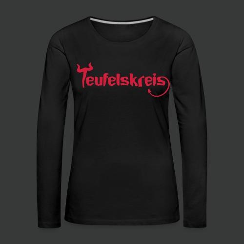 Teufelskreis Logo - Frauen Premium Langarmshirt