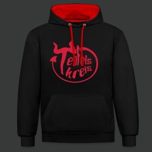 Teufelskreis - Logo - Kontrast-Hoodie