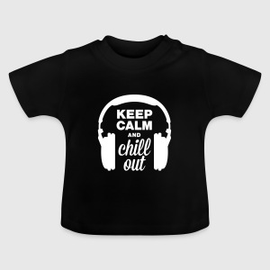 Hörlurar keep calm and chill out T-shirts - Baby-T-shirt