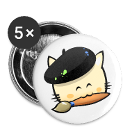 Buttons ~ Buttons medium 32 mm ~ Badges Hungry Cat Picross