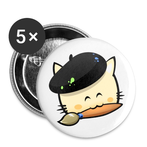 Badges Hungry Cat Picross - Buttons medium 1.26/32 mm (5-pack)