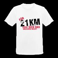 T-Shirts ~ Männer T-Shirt atmungsaktiv ~ T-Shirt: Für 21 km lohnt sich das Umziehen nicht