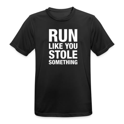T-Shirt: Run like you stole something - Männer T-Shirt atmungsaktiv