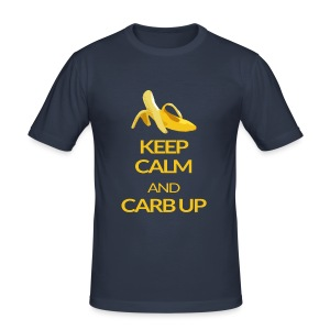 KEEP CALM and CARB UP boys slim fit - Männer Slim Fit T-Shirt