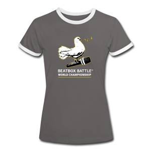 Women Shirt: Dove of Peace - Frauen Kontrast-T-Shirt