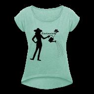 T-Shirts ~ Frauen T-Shirt mit gerollten Ärmeln ~ Artikelnummer 102835622
