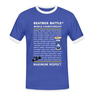 T-Shirt: Beatbox Battle Countries - Men's Ringer Shirt