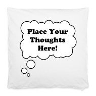 Other ~ Pillowcase 40 x 40 cm ~ Personal Thought Bubble