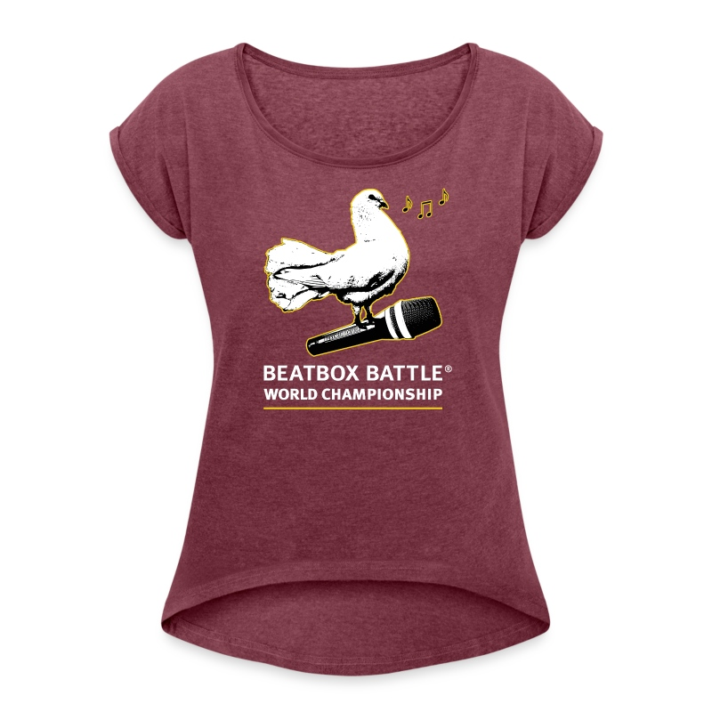 Women Shirt: Dove of Peace - Women's T-shirt with rolled up sleeves