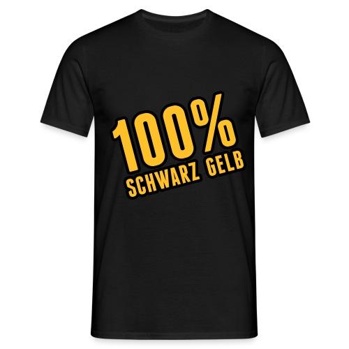 100 % Schwarz Gelb Black - Männer T-Shirt