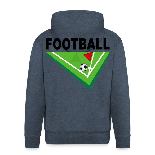 Football corner design - Men's Premium Hooded Jacket