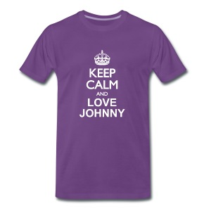 Keep calm and love Johnny - T-shirt Premium Homme