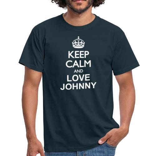 Keep calm and love Johnny - T-shirt Homme