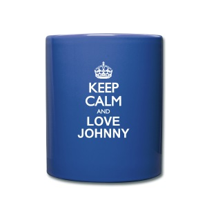 Keep calm and love Johnny - Tasse en couleur