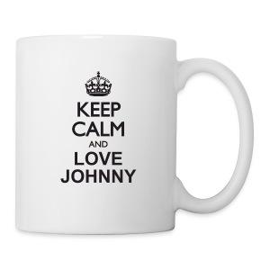 Keep calm and love Johnny - Mug blanc