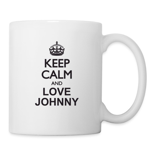 Keep calm and love Johnny - Mug blanc