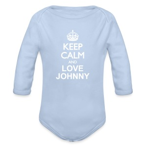 Keep calm and love Johnny - Body bébé bio manches longues