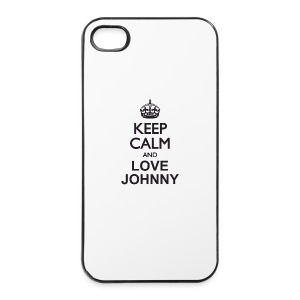 Keep calm and love Johnny - Coque rigide iPhone 4/4s