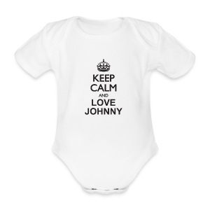 Keep calm and love Johnny - Body bébé bio manches courtes